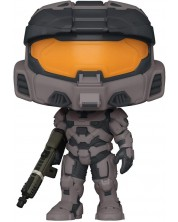 Figurina Funko POP! Games: Halo Infinite - Spartan Mark VII with Rifle, Black #14