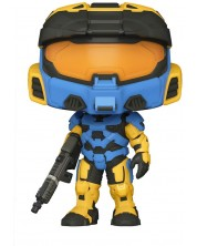 Figurina Funko POP! Games: Halo Infinite - Spartan Mark VII with Rifle, Blue & Yellow #15