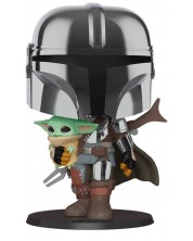 Figurina Funko POP! Star Wars: Mandalorian - Mandalorian carrying child