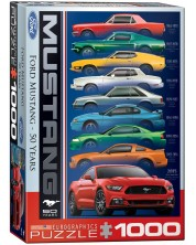Puzzle Eurographics de 1000 piese - Ford Mustang la 50 ani