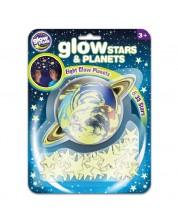 Stickere fosforescente Brainstorm Glow - Stele si planete, 43 bucati