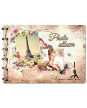 Album foto cu spirala din sfoara Lastva Retro - Paris  -1