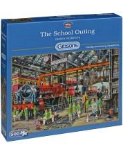 Puzzle Gibsons de 500 piese – Intr-o excursie scolara, Derek Roberts