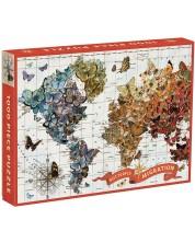 Puzzle Galison de 1000 de piese - Migrarea fluturilor, Wendy Gold