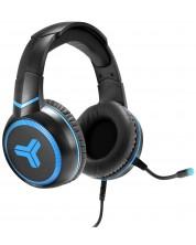 Casti gaming T'nB - Elyte HY100, negre/albastre