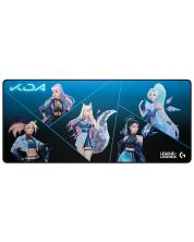 Mousepad gaming Logitech - G840 K/DA, moale, albastru/negru