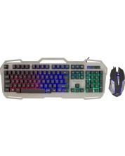 Set gaming White Shark - GMK-1901 APACHE-2, gri/negru