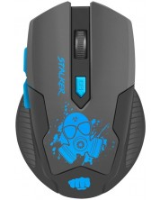 Mouse gaming Fury - Stalker, optic, wireless, negru/rosu