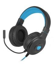 Casti gaming Fury - Warhawk, RGB, negre/albastre