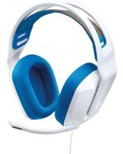 Casti gaming Logitech - G335, albe/albastre