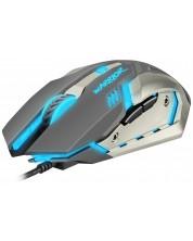 Mouse gaming Fury - Warrior, optic, negru/gri