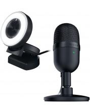 Set gaming Razer - microfon Seiren Mini + camera web Kiyo