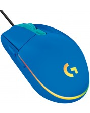 Mouse gaming  Logitech - G102 Lightsync, albastru