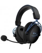 Casti gaming HyperX - Cloud Alpha S, 7.1, negre/albastre -1