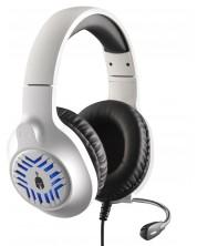 Casti gaming Spartan Gear -Medusa, PC/PS/XBox/Switch, albe/negre