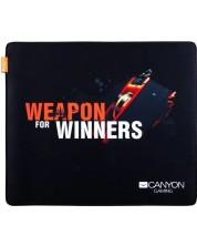 Mousepad gaming Canyon - CND-CMP5, S, moale, negru