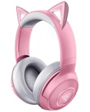 Casti gaming Razer - Kraken BT Kitty Edition, roz
