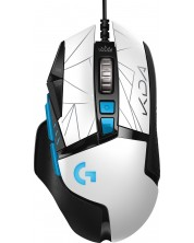 Mouse gaming Logitech - G502 Hero K/DA, optic, alb/negru