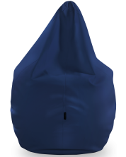 Fotoliu puf mare Barbaron - Soft, piele ecologica, albastru inchis -1