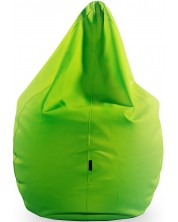 Fotoliu puf mare Barbaron - Soft, piele ecologica, verde -1