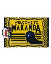 Covoras pentru usa Pyramid - Black Panther (Welcome to Wakanda)