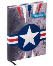 Agenda Mitama A5 - Air Force, cu coperti textile -1
