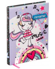 Agenda Mitama A5 - Rainbow, cu coperti textile -1