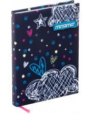 Agenda Mitama A5 - Romantic Blue, cu coperti textile -1
