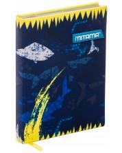 Agenda Mitama A5 - Shark, cu coperti textile -1
