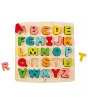 Puzzle din lemn Hape - Alfabetul, majuscule -1