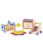 Set min mobilier din lemn Hape - Mobilier pentru camera bebelusului  -1