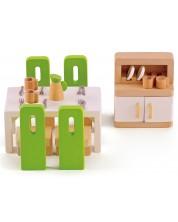 Set mobilier din lemn papusi Hape - Sufragerie -1