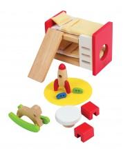 Set mini mobilier Hape - Camera copiilor -1