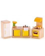 Set mobilier din lemn papusi Hape - Bucatarie -1
