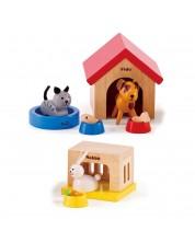 Set mini mobilier din lemn Hape - Casa pentru animale de companie -1