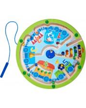 Joc magnetic pentru copii Haba - Tren cu cifre -1