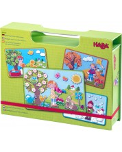 Joc magnetic pentru copii Haba - Anotimpuri, in cutie -1