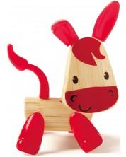 Jucarie pentru copii din bambus Hape - Animal mini Magar -1