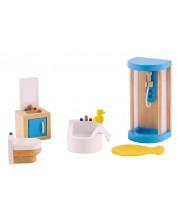 Set mini mobilier din lemn Hape - Baie, 5 piese -1