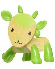 Jucarie pentru copii din bambus Hape - Animal mini Capra -1