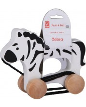 Jucarie cu roti - Zebra din lemn -1