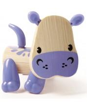 Jucarie pentru copii din bambus Hape - Animal mini Hipopotam -1