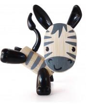 Jucarie pentru copii din bambus Hape - Animal mini Zabra -1