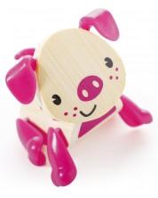 Jucarie pentru copii din bambus Hape - Animal mini Porc -1
