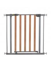 Grilaj de protectie pentru copii Hauck - Wood Lock Safety Gate, Silver -1
