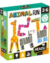 Set creativ Headu Montessori - Animale in savana