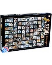 Puzzle D-Toys de 1000 piese - Fete de animale, Bufnite