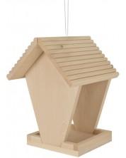 Set din lemn Eichhorn - Hranitor pentru pasari, de desenat -1