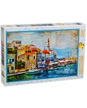 Puzzle Gold Puzzle de 1000 piese - O insula frumoasa in Marea  Mediterana