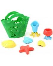 Jucarie pentru baie Green Toys - Tide Pool Bath Set, 7 piese -1